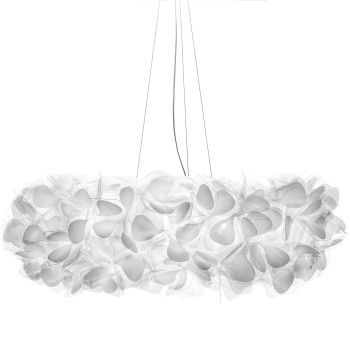 Slamp Clizia Mama non Mama Suspension, Large (⌀ 78 cm), transparentes Kabel