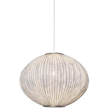Arturo Alvarez Coral Seaurchin COAU04 44 Pendelleuchte, weiß, mit transparentem Kabel