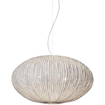 Arturo Alvarez Coral Seaurchin COAU04 70 Pendelleuchte, weiß, mit transparentem Kabel
