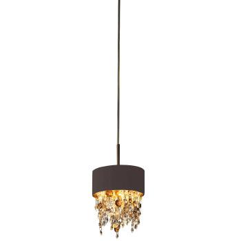 Masiero Ola S2 15, bronze mat, verre en couleurs chaudes
