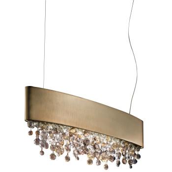 Masiero Ola S2 OV 50, bronze mat, verre en couleurs chaudes