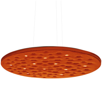 Artemide Silent Field 2.0 Sospensione LED, direktes und indirektes Licht, orange, kompatibel mit Artemide App