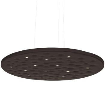 Artemide Silent Field 2.0 Sospensione LED, direktes und indirektes Licht, schwarz, kompatibel mit Artemide App