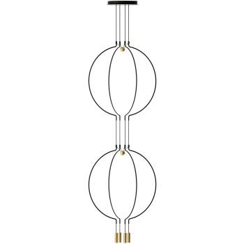 Axo Light Liaison M4 Duo, Bogen schwarz / Details gold matt