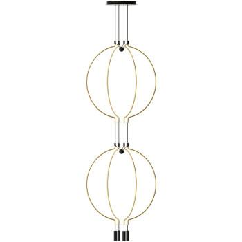 Axo Light Liaison M4 Duo, Bogen mattgold / Details schwarz