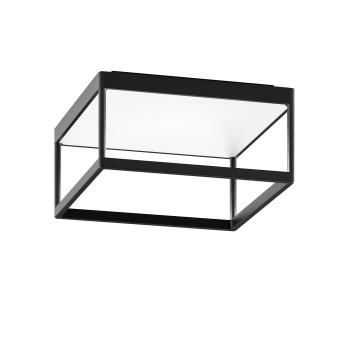 Serien Lighting Reflex² Ceiling M 150, TRIAC, 2700K, Gehäuse schwarz, Glas strukturiert weiß