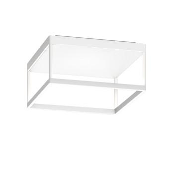 Serien Lighting Reflex² Ceiling M 150, TRIAC, 2700K, Gehäuse weiß, Glas strukturiert weiß