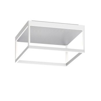 Serien Lighting Reflex² Ceiling M 150, TRIAC, 2700K, Gehäuse weiß, Glas strukturiert silber