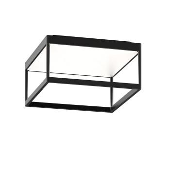 Serien Lighting Reflex² Ceiling M 150, TRIAC, 2700K, Gehäuse schwarz, Glas weiß matt