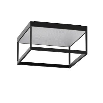 Serien Lighting Reflex² Ceiling M 150, TRIAC, 3000K, Gehäuse schwarz, Glas strukturiert silber