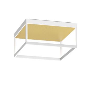 Serien Lighting Reflex² Ceiling M 150, TRIAC, 3000K, Gehäuse weiß, Glas strukturiert hellgold
