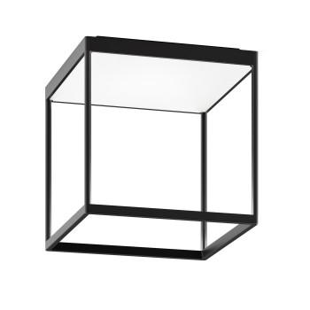 Serien Lighting Reflex² Ceiling M 300, Gehäuse schwarz, Glas strukturiert weiß