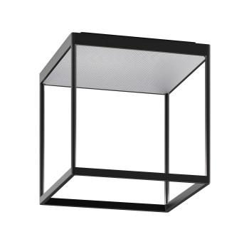 Serien Lighting Reflex² Ceiling M 300, Gehäuse schwarz, Glas strukturiert silber