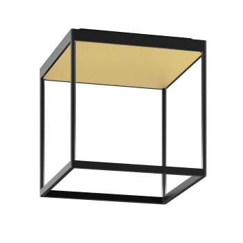 Serien Lighting Reflex² Ceiling M 300, Gehäuse schwarz, Glas strukturiert hellgold