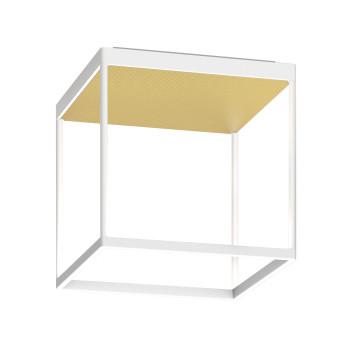 Serien Lighting Reflex² Ceiling M 300, Gehäuse weiß, Glas strukturiert hellgold