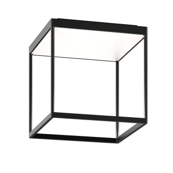 Serien Lighting Reflex² Ceiling M 300, Gehäuse schwarz, Glas weiß matt