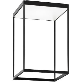 Serien Lighting Reflex² Ceiling M 450, Gehäuse schwarz, Glas strukturiert weiß