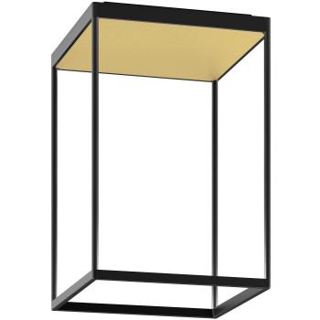 Serien Lighting Reflex² Ceiling M 450, Gehäuse schwarz, Glas strukturiert hellgold
