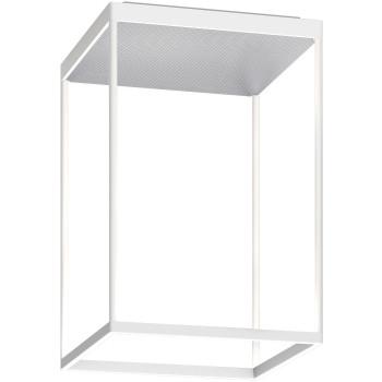 Serien Lighting Reflex² Ceiling M 450, Gehäuse weiß, Glas strukturiert silber