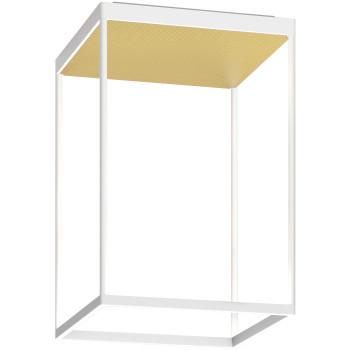 Serien Lighting Reflex² Ceiling M 450, Gehäuse weiß, Glas strukturiert hellgold