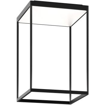 Serien Lighting Reflex² Ceiling M 450, Gehäuse schwarz, Glas weiß matt