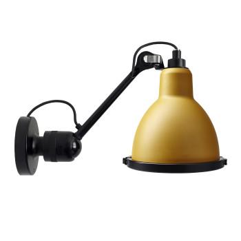 DCW Lampe Gras No 304 XL Seaside, schwarz, Schirm gelb