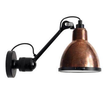 DCW Lampe Gras No 304 XL Seaside, schwarz, Schirm Kupfer roh