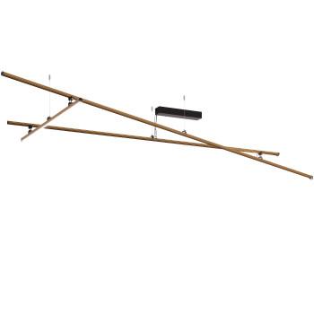 Fabbian Freeline Deckenleuchte, bronze