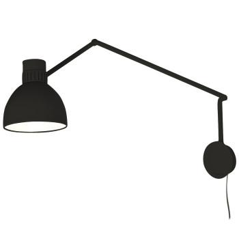 B.Lux System W20, schwarz / innen weiß satiniert, mit Stecker