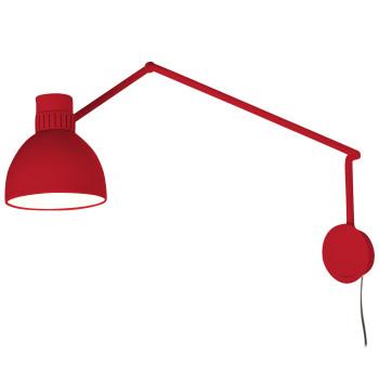 B.Lux System W20, rot / innen weiß satiniert, mit Stecker