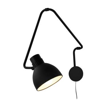 B.Lux System W40, schwarz / innen weiß satiniert, mit Stecker