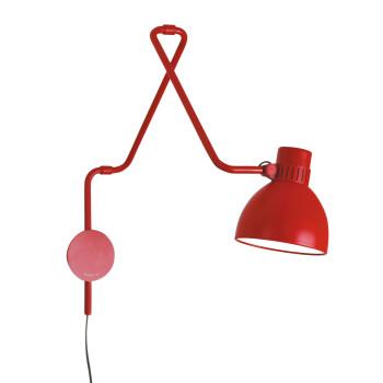 B.Lux System W40, rot / innen weiß satiniert, mit Stecker