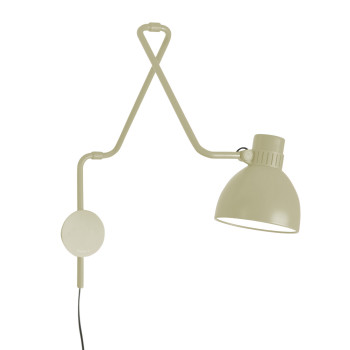 B.Lux System W40, beige / innen weiß satiniert, mit Stecker
