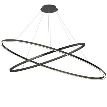 Nemo Ellisse Double Mega Pendant Light, black