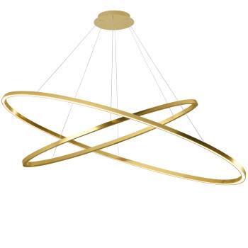 Nemo Ellisse Double Mega Pendant Light, lacquered gold