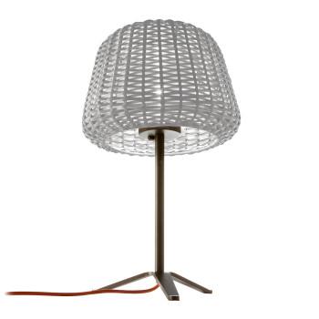 Panzeri Ralph Lampe de table, blanc/gris