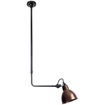 DCW Lampe Gras No 313, Schirm Kupfer roh