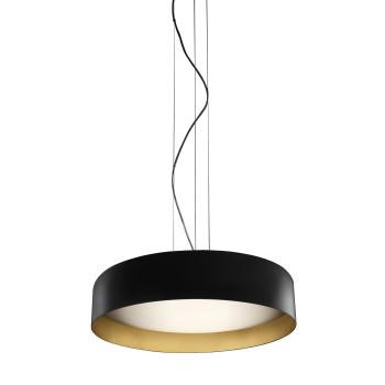 Panzeri Ginevra 53 Pendant Light, matt black / gold