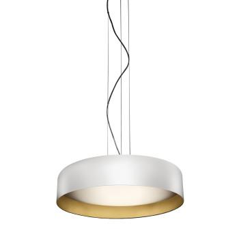 Panzeri Ginevra 53 Pendant Light, white / gold