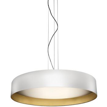Panzeri Ginevra 80 Pendant Light, white / gold