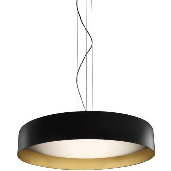 Panzeri Ginevra 80 Pendant Light, matt black / gold