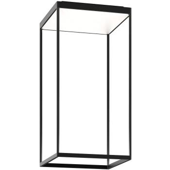 Serien Lighting Reflex² Ceiling M 600, Gehäuse schwarz, Glas weiß matt