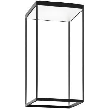 Serien Lighting Reflex² Ceiling M 600, Gehäuse schwarz, Glas strukturiert weiß