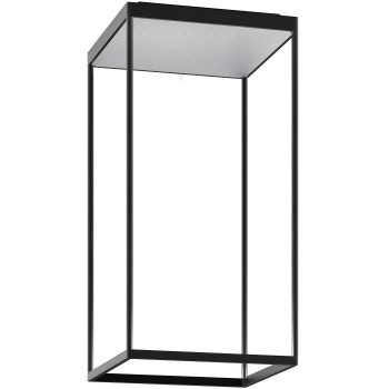 Serien Lighting Reflex² Ceiling M 600, Gehäuse schwarz, Glas strukturiert silber