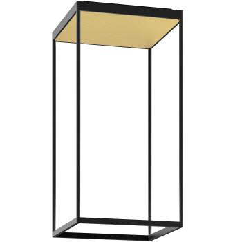 Serien Lighting Reflex² Ceiling M 600, Gehäuse schwarz, Glas strukturiert hellgold