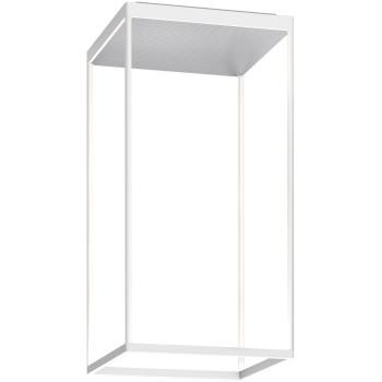 Serien Lighting Reflex² Ceiling M 600, Gehäuse weiß, Glas strukturiert silber