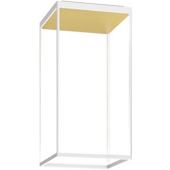 Serien Lighting Reflex² Ceiling M 600, Gehäuse weiß, Glas strukturiert hellgold