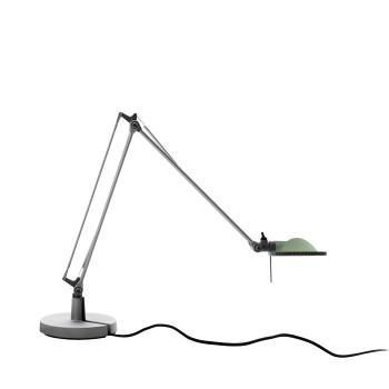 Luceplan Berenice Tavolo Piccola, Struktur Alu, Glasreflektor salbeigrün