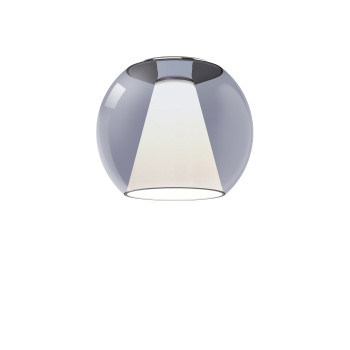 Serien Lighting Draft Ceiling S, Glas blau, 2700K