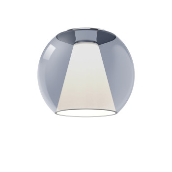 Serien Lighting Draft Ceiling M, Glas blau, 3000K (alte Version 20W, 2620 lm, Höhe 28 cm)